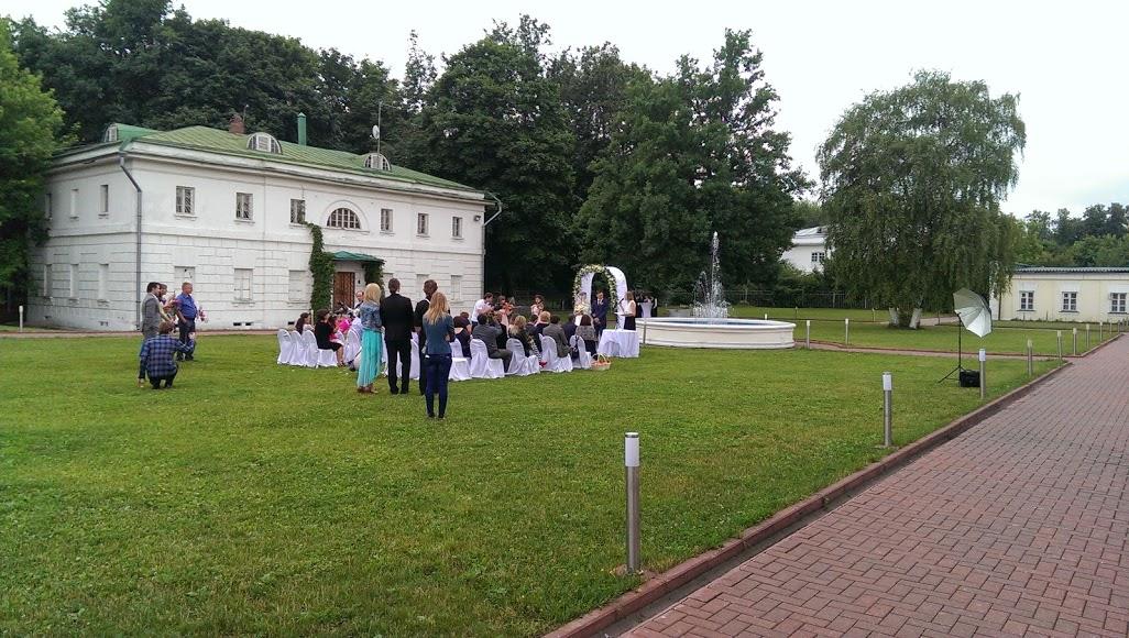 Свадьба в усадьбе Кузьминки