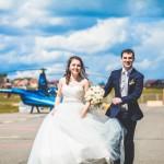 Вертолет на свадьбе